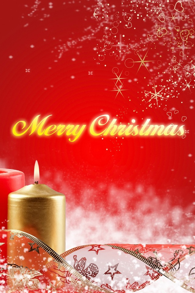 Merry christmas candles wallpaper