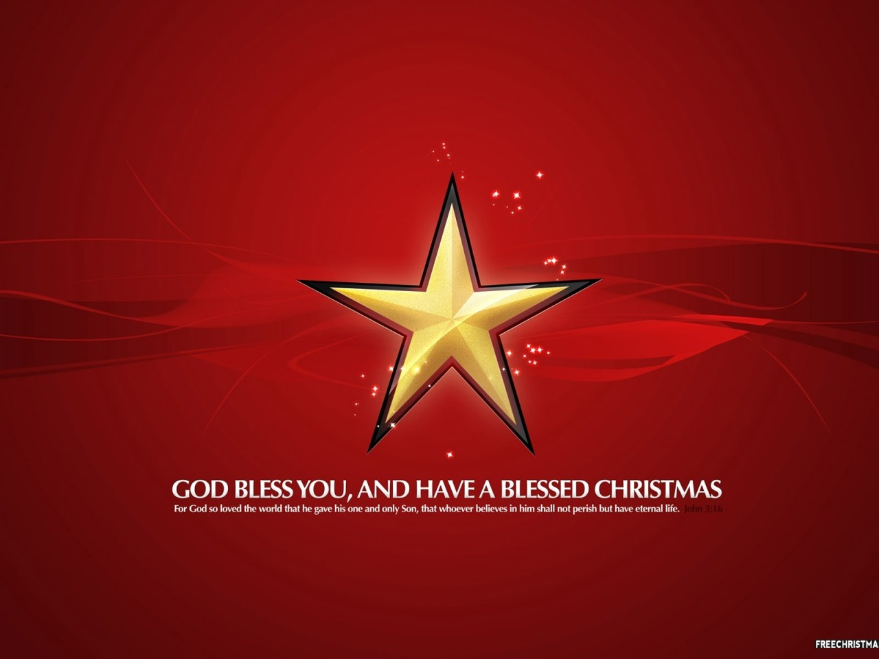 Blessed Christmas Star Red