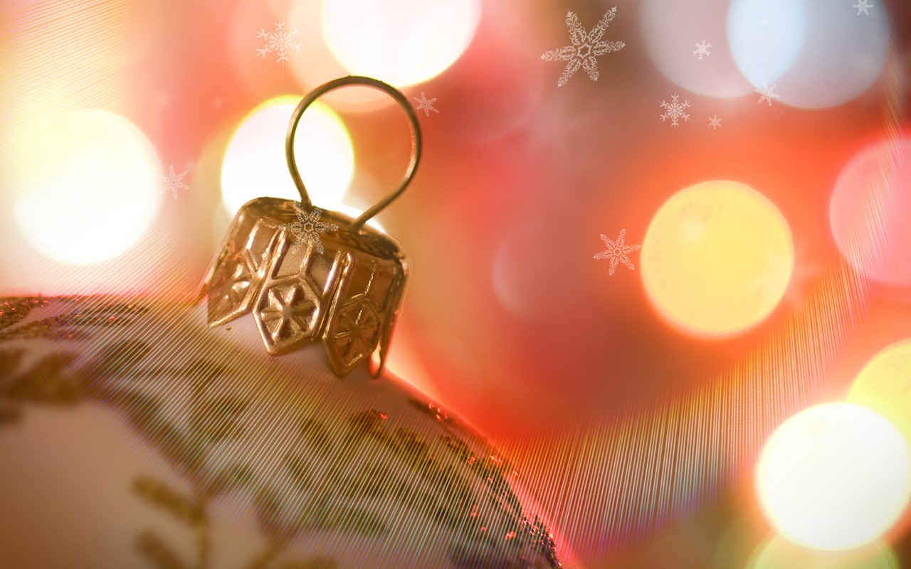 Christmas Festive Globe Ornament