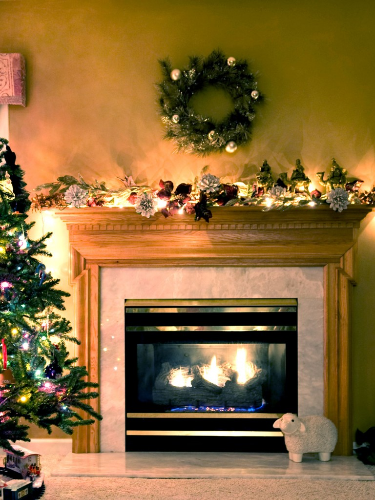 Christmas Fireplace Scene