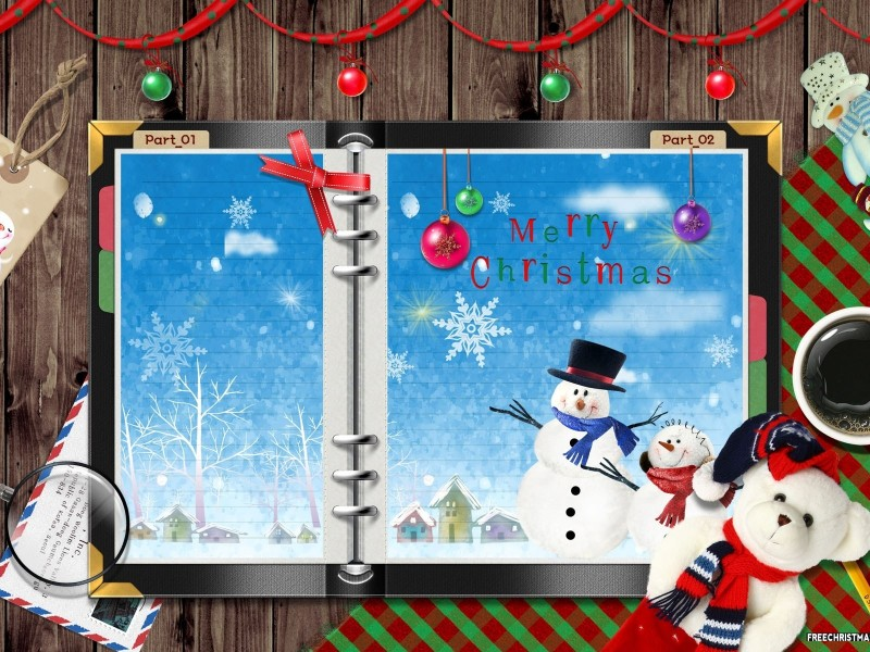 Christmas Letter Background