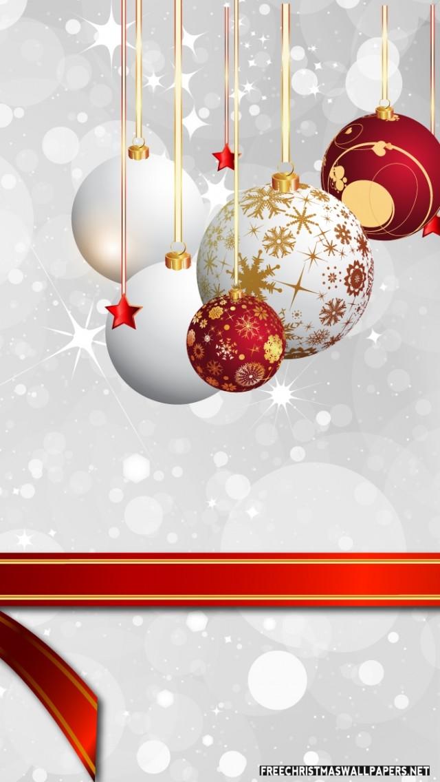 Christmas iphone 5 wallpaper ornaments