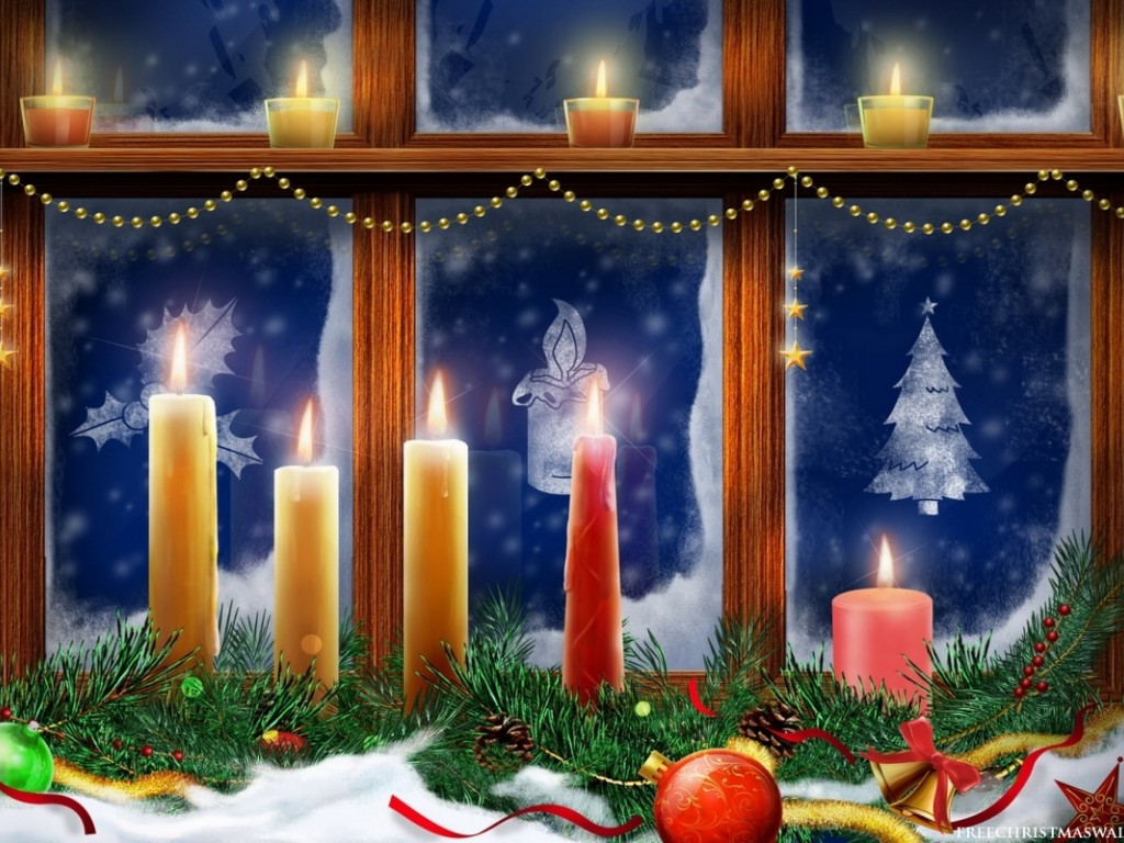 Christmas Windows Candles