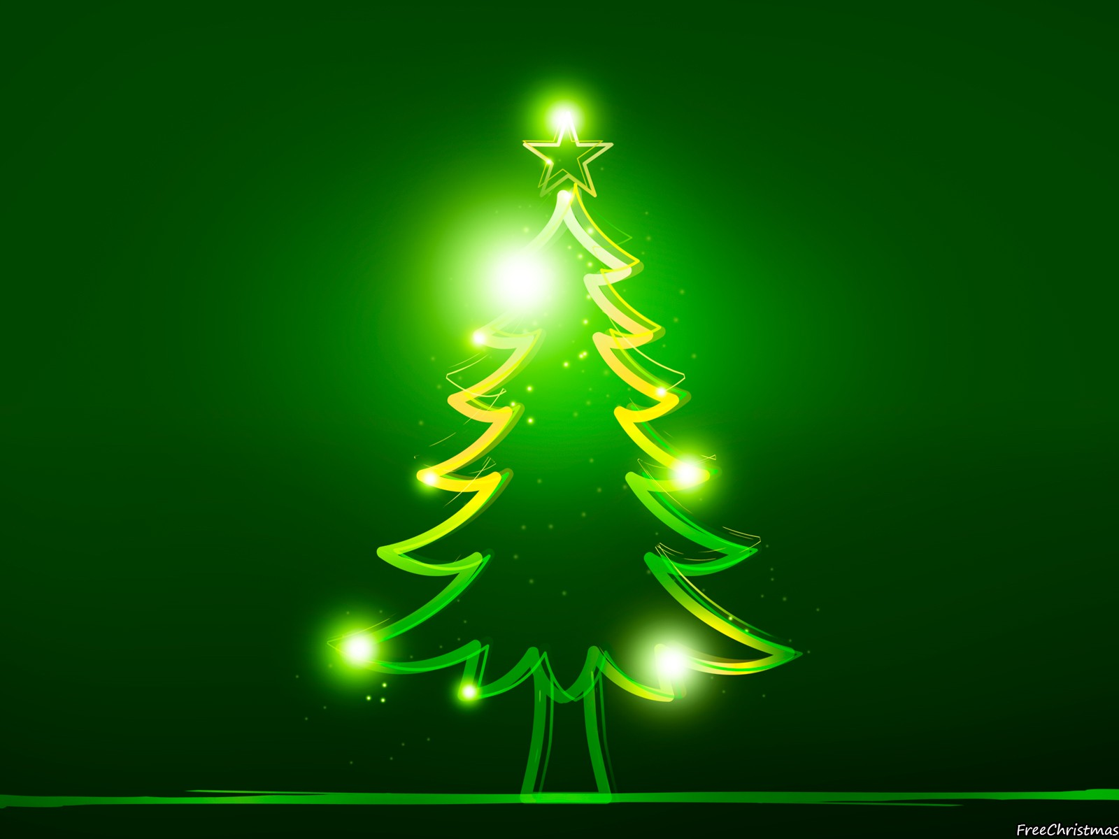Green Christmas Tree With Bulbs