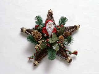 Santa Claus Xmas Wreath