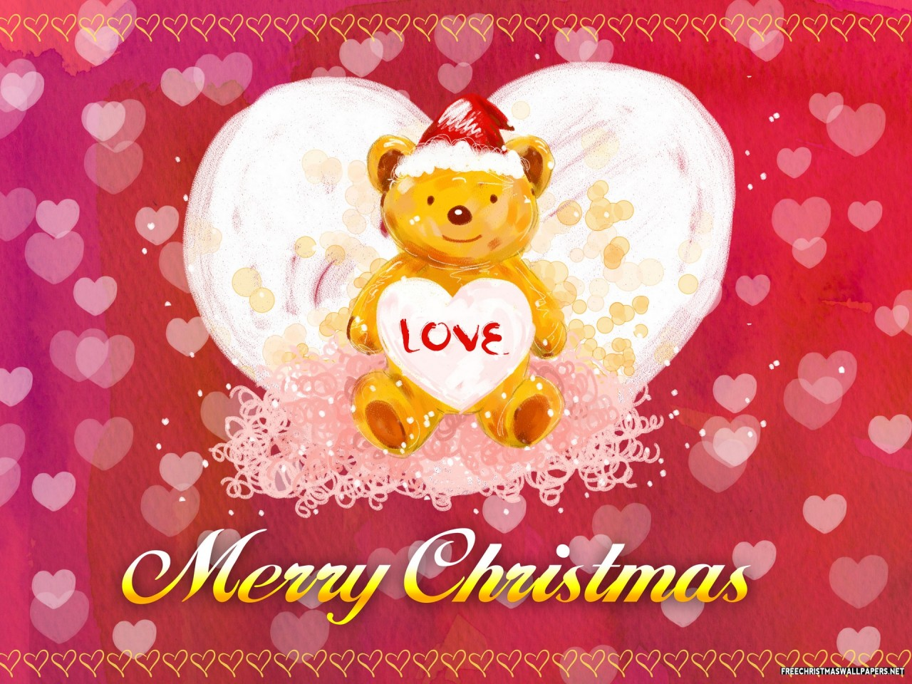 Teady Bear Xmas Card