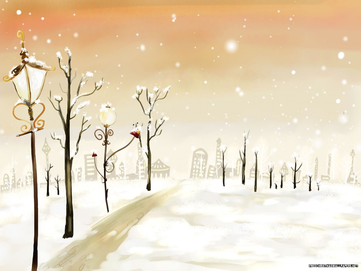Urban Winter Painting
