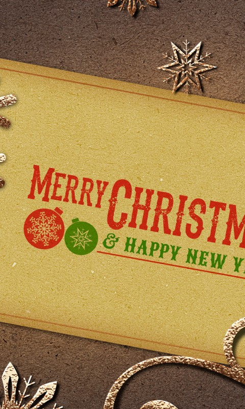 Vintage Merry Christmas Note