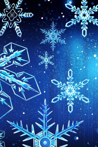 Xmas Flakes Background
