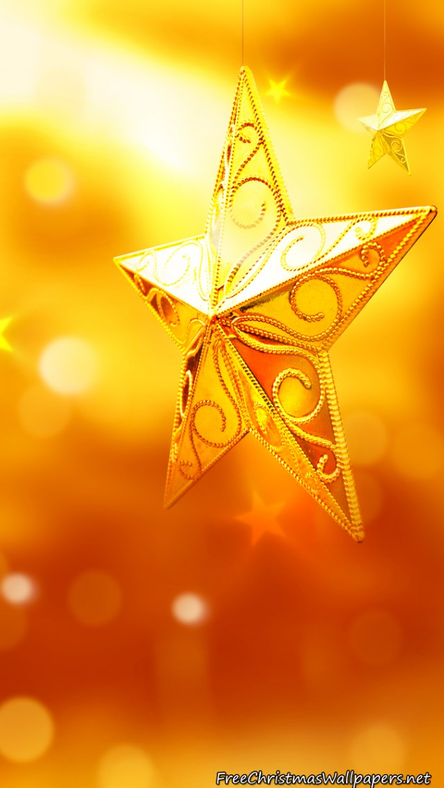 Yellow Christmas Star Ornaments