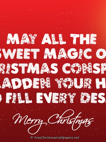 May All The Sweet Magic Of Christmas Postcard