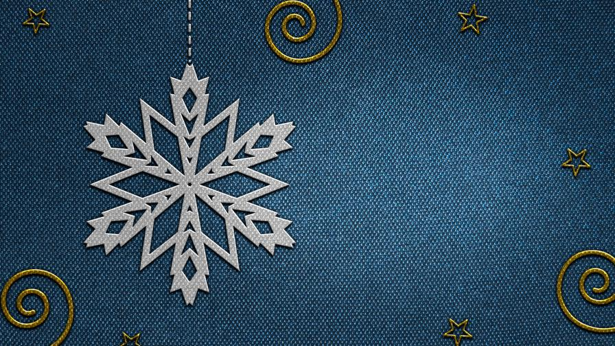 Blue Carpet Christmas Flake Ornament