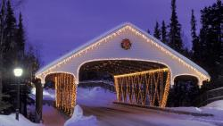 Christmas Covered Bridge