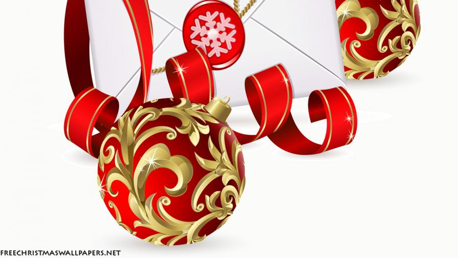 Christmas Letter Ornament Background