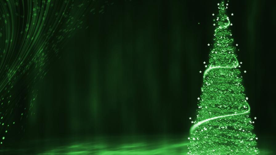 Green Christmas Tree Background