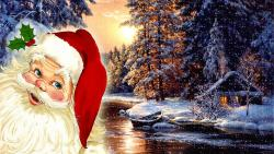Santa Claus And Nature