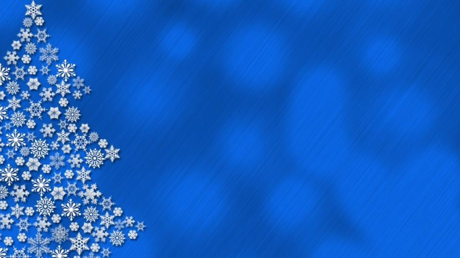 Stylish Blue Christmas