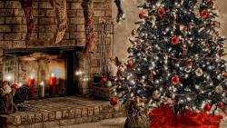 Warm Christmas Fireplace
