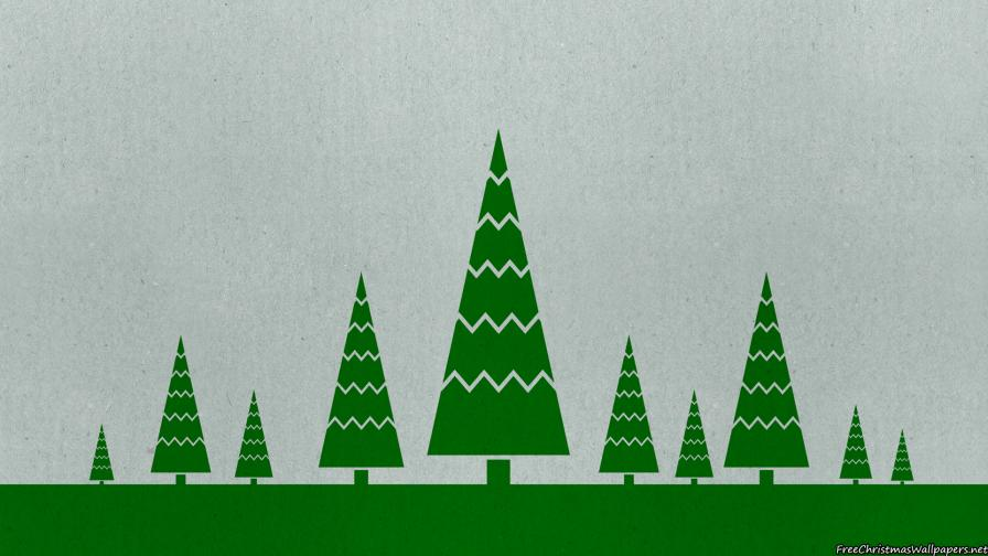 Worn Christmas Trees Background