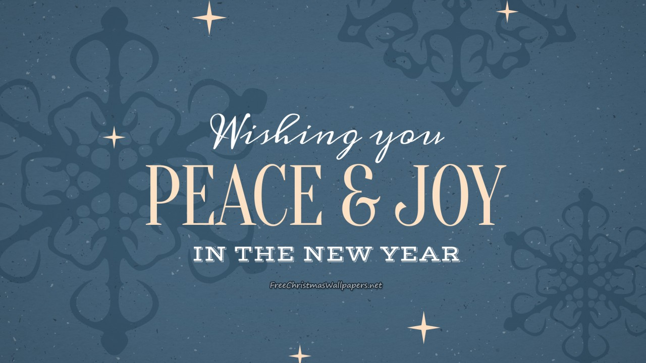Wishing You Peace and Joy in New Year